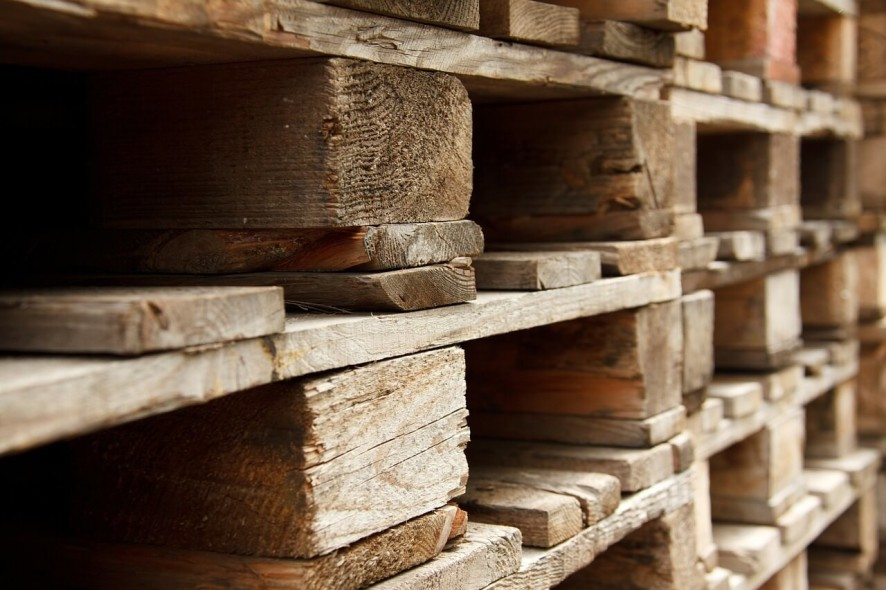 Stacked Pallets