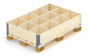Pallet collar with 12 dividers