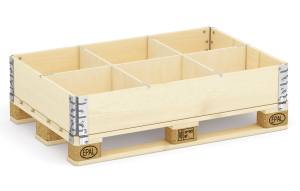 Pallet collar with 6 dividers