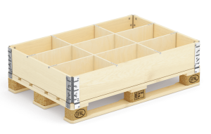Pallet collar with 9 dividers