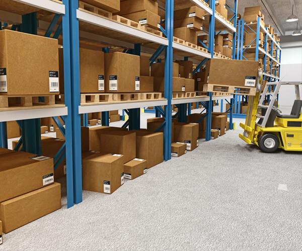 Industrial Packaging in Warehouse